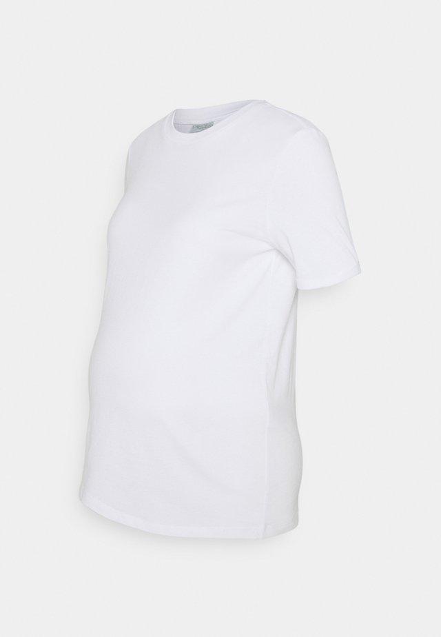 PCMRIA FOLD UP SOLID TEE - Basic T-shirt - white