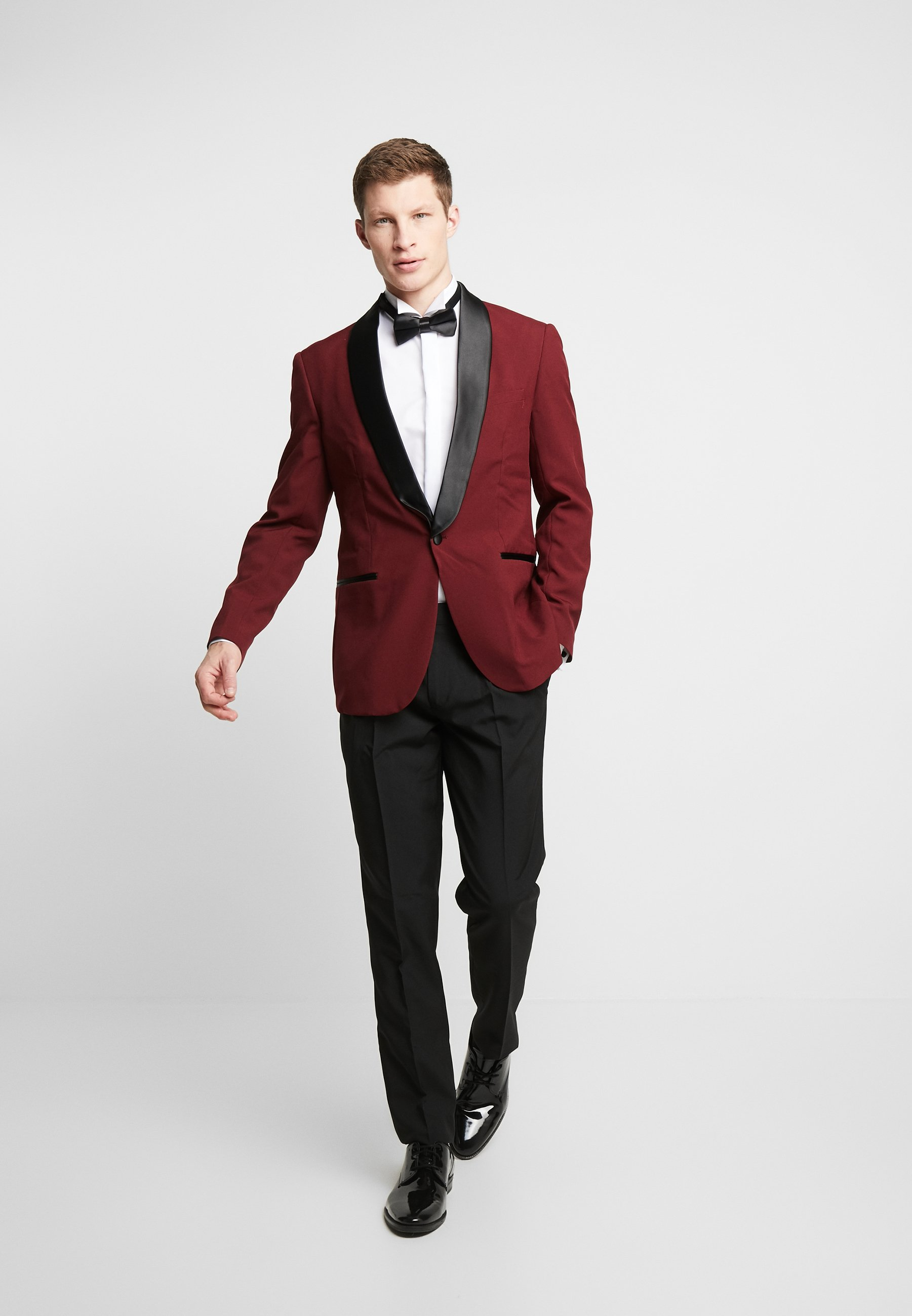 HOT TUXEDO Dress burgundy