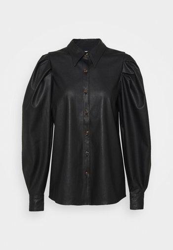 MARIE SLEEVE BLOUSE - Button-down blouse - black