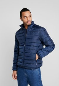 Only & Sons - ONSGEORGE QUILTED HIGHNECK - Chaqueta de entretiempo - dress blues - 0