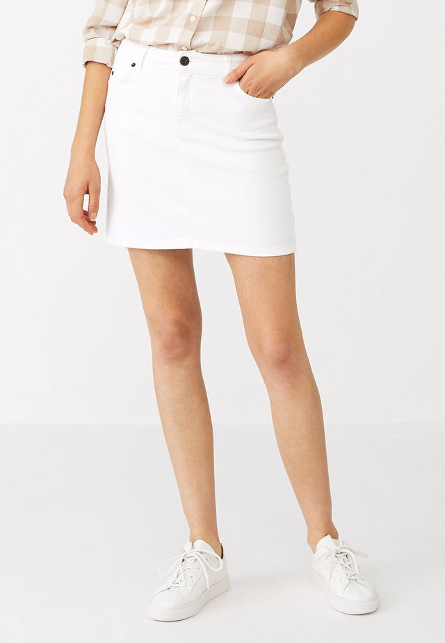ALEXA  - Denim skirt - white