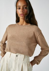 PULL&BEAR - Jumper - mottled brown - 3