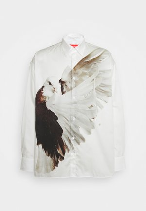 ILLUSION BIRD ETHRIDGE UNISEX - Košile - white/brown/offwhite