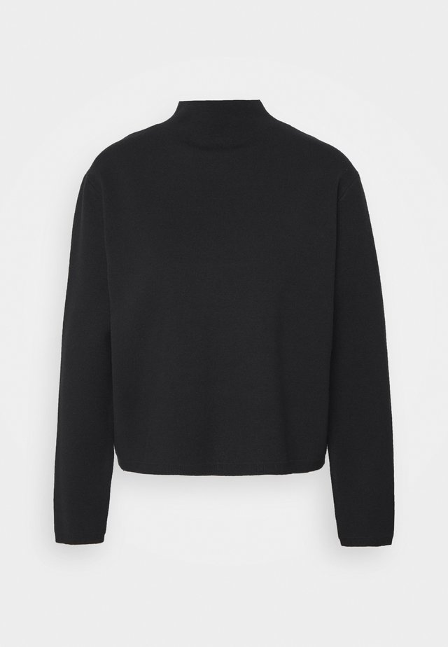 SLFCALI CROP HIGHNECK - Maglione - black