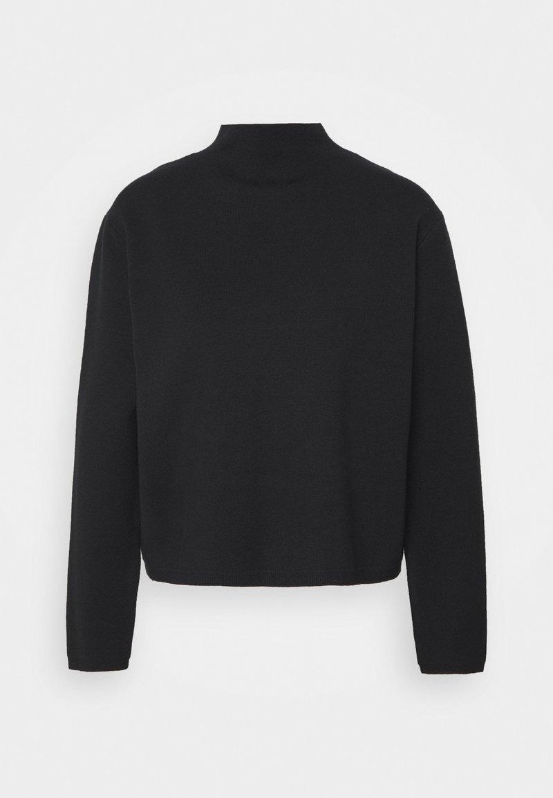 Selected Femme Petite - SLFCALI CROP HIGHNECK - Jumper - black