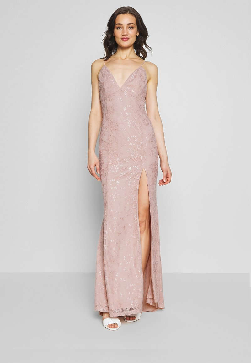 Nly by Nelly - IRRESISTABLE GOWN - Vestido de fiesta - dusty pink