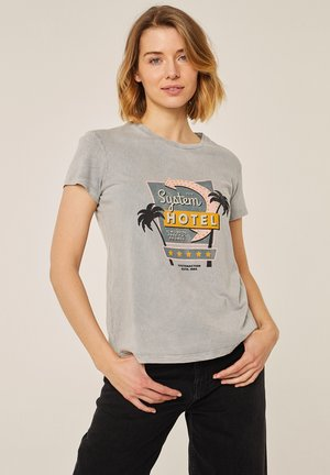 T-shirt print - gris vigore medio
