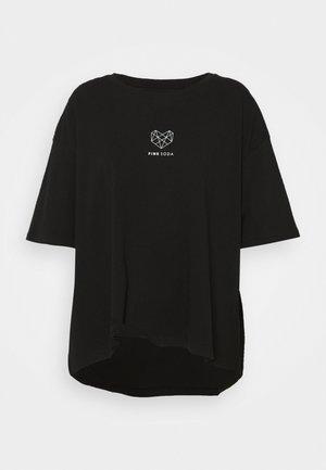 INDIE CROP CURVE - Print T-shirt - black