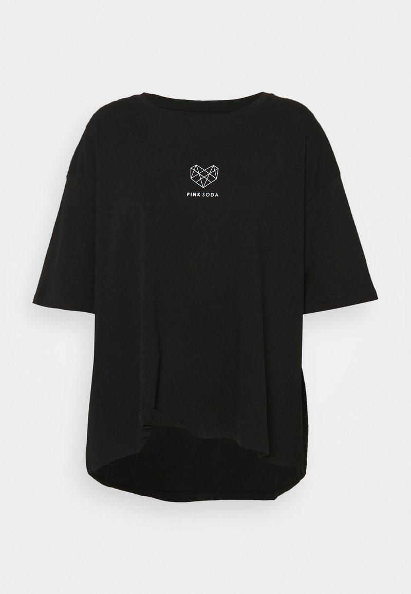 Pink Soda - INDIE CROP CURVE - Print T-shirt - black