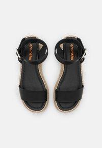 Emmshu - FABY - Korkeakorkoiset sandaalit - black - 5