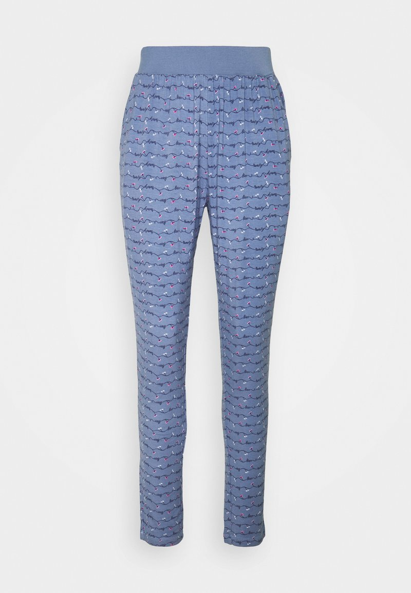 TOM TAILOR - TROUSERS LONG - Pyjama bottoms - blue-medium-allover