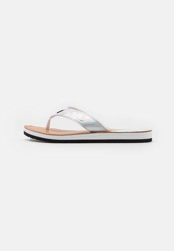 IRIDESCENT BEACH - T-bar sandals - white