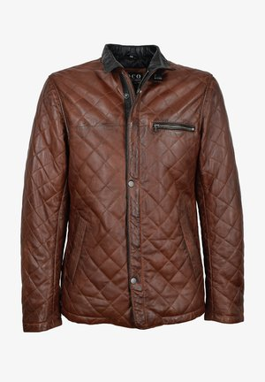 Leather jacket - mokka braun