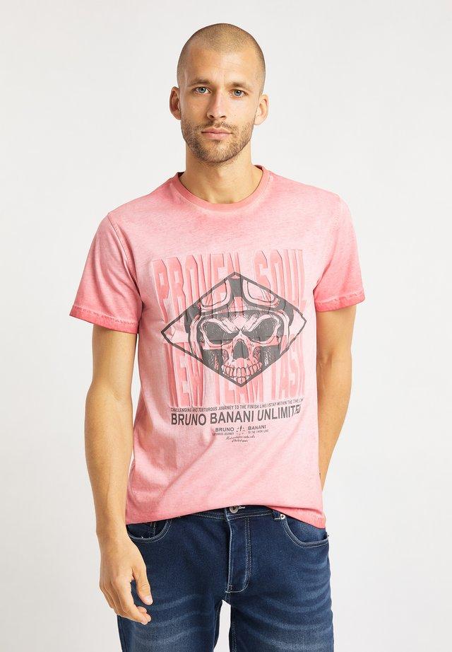 T-shirt med print - rot