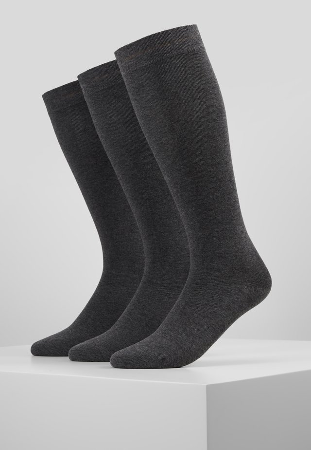 WOMEN SOFT KNEEHIGHS 3 PACK - Chaussettes hautes - dark grey melange
