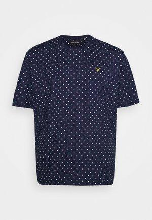 FLAG PRINT - T-shirt con stampa - navy