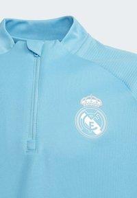 adidas Performance - REAL MADRID AEROREADY FOOTBALL PULLOVER - Long sleeved top - turquoise - 4