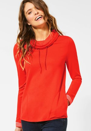 MIT GROSSEM KRAGEN - Sweatshirt - orange