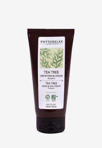 VEGAN & ORGANIC TEA TREE - PROTECTIVE HAND & NAILS CREAM  - Handcrème - -