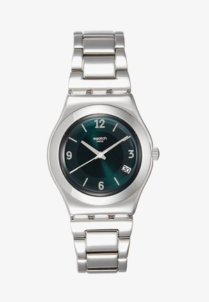MIDDLESTEEL - Watch - silver-coloured/green