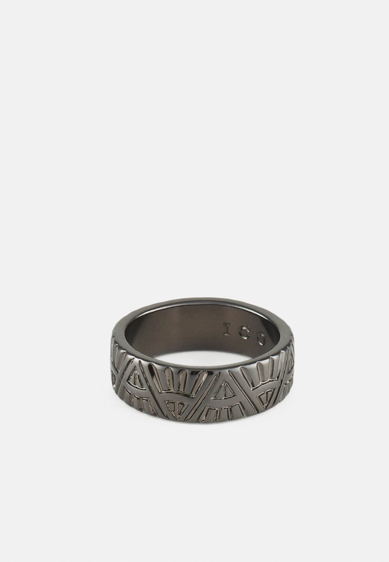 Icon Brand - DECO NUANCE ENGRAVED BAND - Ring - gunmetal