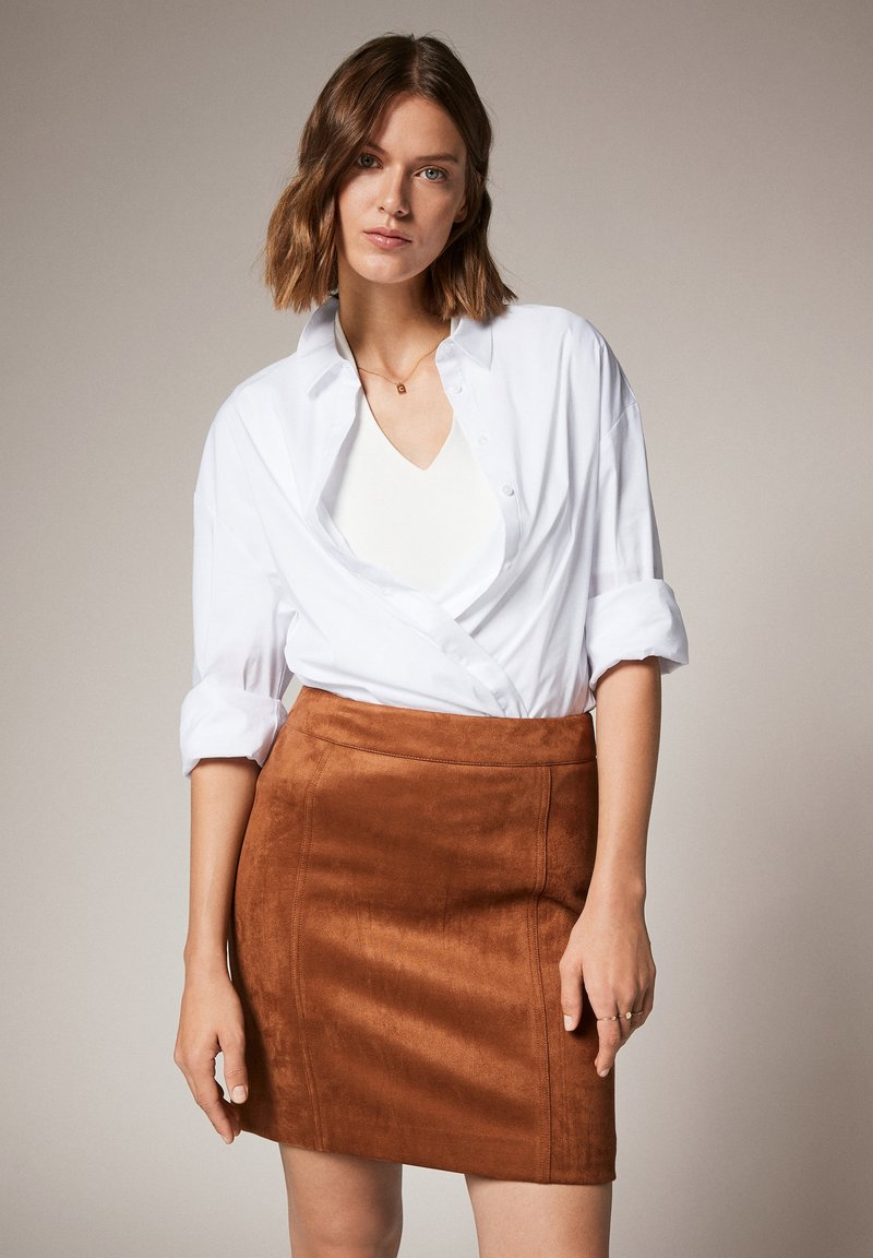 comma - Pencil skirt - toffee