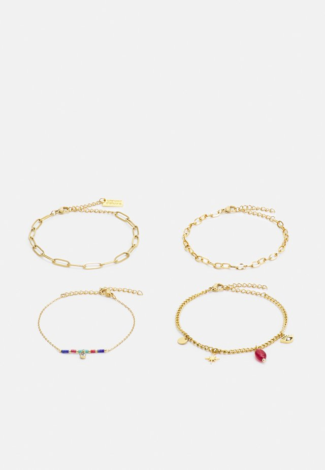 4 PACK - Armband - gold-coloured