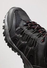 Hi-Tec - JAGUAR - Hiking shoes - black/picante - 5