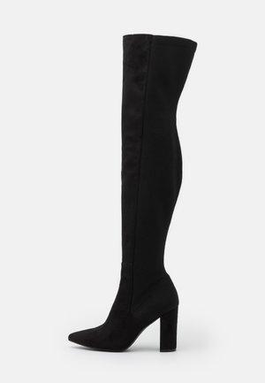 EVERLEY - Kozačky na vysokém podpatku - black