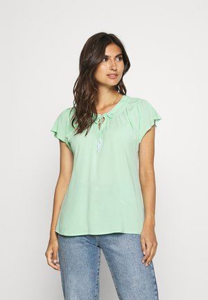 Blouse - blue green