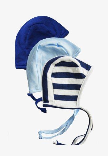 3PACK - Beanie - hellblau/blau/blau weiss gestreift
