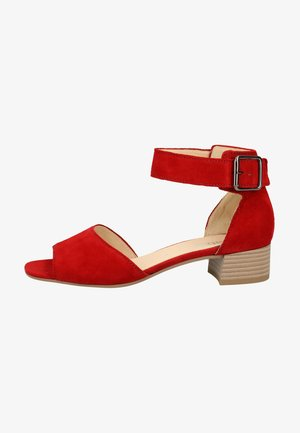Ankle cuff sandals - ruby