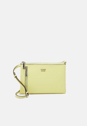 HANDBAG NAYA DOUBLE ZIP CROSSBODY - Across body bag - lemon