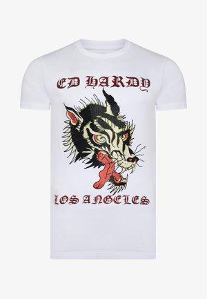 LA-WOLF T-SHIRT - T-shirt con stampa - white