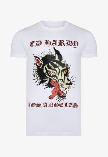 LA-WOLF T-SHIRT - Print T-shirt - white