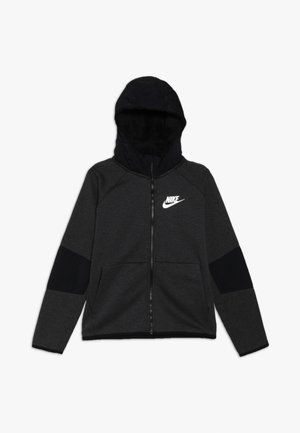 WINTERIZED - Hoodie met rits - black/heather/black/white