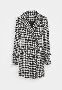 Missguided - TAILORED BLAZER DRESS HOUNDSTOOTH - Kjole - white - 0