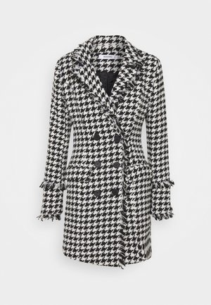 TAILORED BLAZER DRESS HOUNDSTOOTH - Vestido informal - white