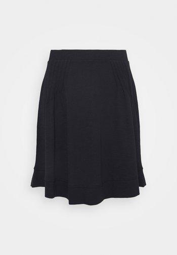FLARE SKIRT - Mini skirt - black