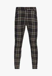 SIKSILK - PLAID CHECK SKINNY  - Trousers - navy/yellow/white - 3
