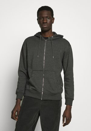 JJESOFT ZIP HOOD - Zip-up hoodie - dark grey melange