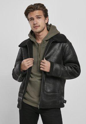 Winter jacket - black/black