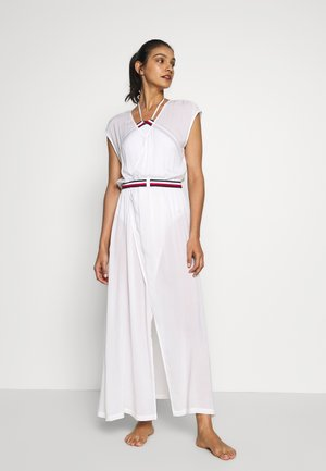 CORE SIGNATURE WRAP DRESS - Beach accessory - classic white