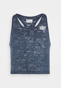 HIIT - CROP - Top - teal - 3