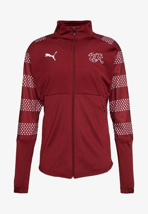 SCHWEIZ SFV STADIUM JACKET - Training jacket - pomegranate
