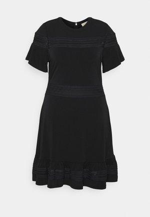 MIX DRESS - Jersey dress - black