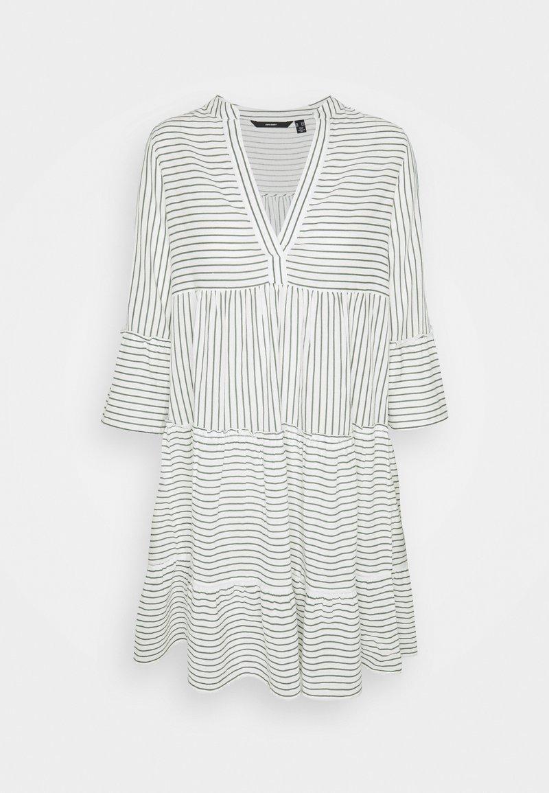 Vero Moda Tall - VMHELI 3/4 SHORT DRESS TALL - Day dress - snow white/laurel wreath