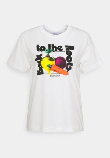 MYSEN THE ROOTS - T-shirt imprimé - offwhite