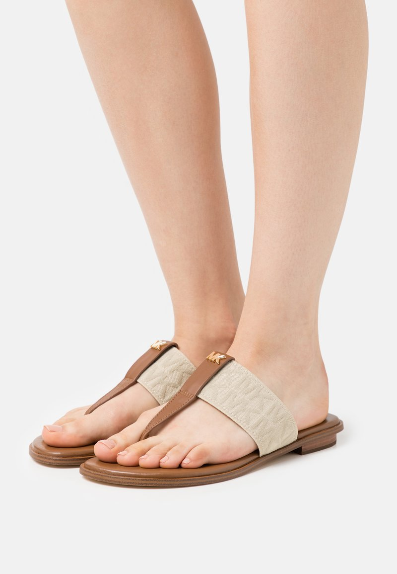 MICHAEL Michael Kors - VERITY THONG - Sandály s odděleným palcem - hemp