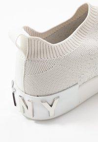 DKNY - SAYDA SOCK  - Slip-ons - silver/white - 2